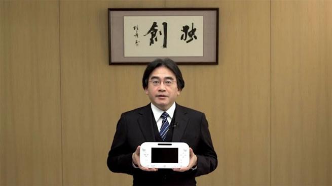 Satoru Iwata con Wii U