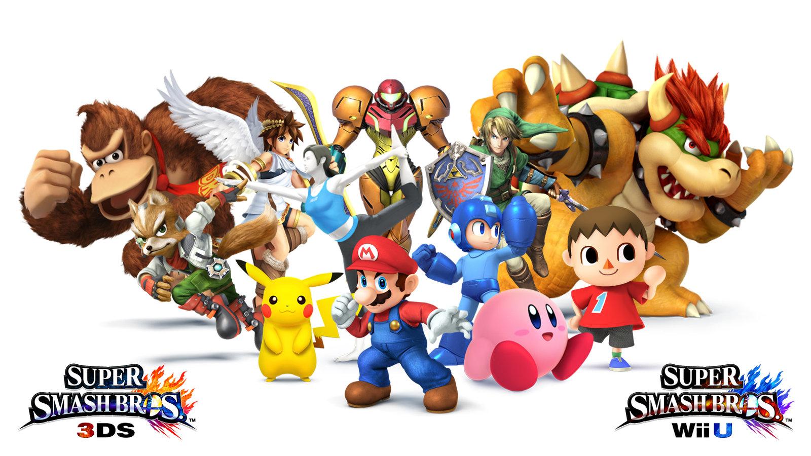 Super Smash Bros for WiiU/3DS, cover