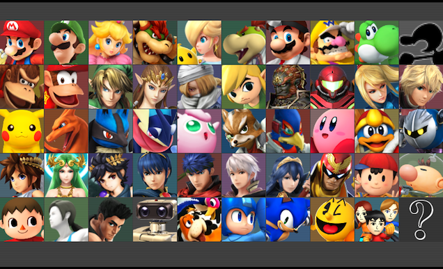 Super Smash Bros for WiiU/3DS, roster