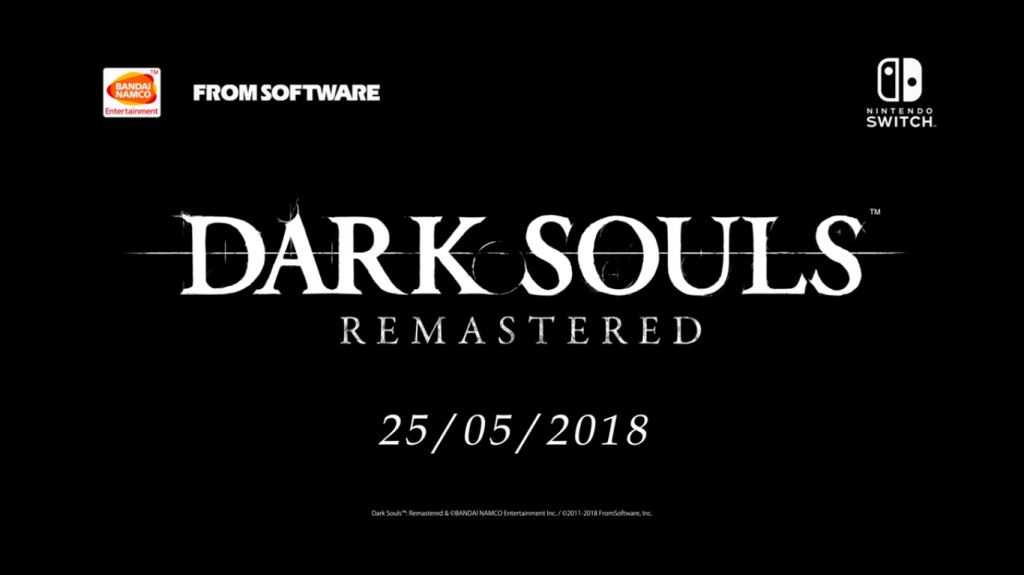 Annunciato Dark Souls: Remastered per Nitendo Switch