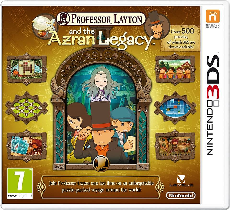 Svelata la cover Europea per Professor Layton and the Azran Legacy